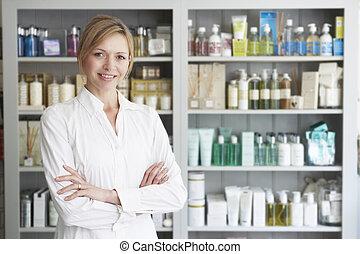 produtos, aconselhar, beleza, esteticista