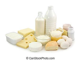 produtos leiteria, e, ovos