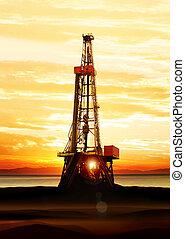 produzione, gas, olio