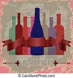 proeven, wijntje, uitnodiging, spandoek