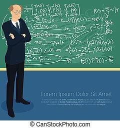 prof, blackboard., math
