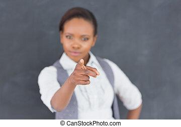 prof, doigt-indique