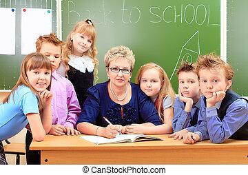 prof, enfants