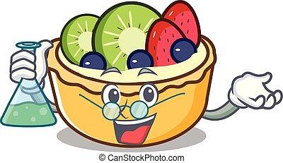 prof, fruit, caractère, dessin animé, tarte