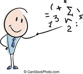 prof, math, dessiner