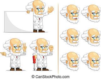 prof, scientifique, 5, ou, mascotte