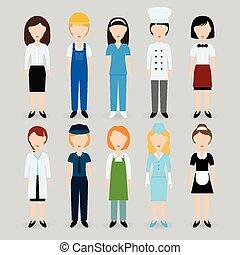 profesión, mujeres