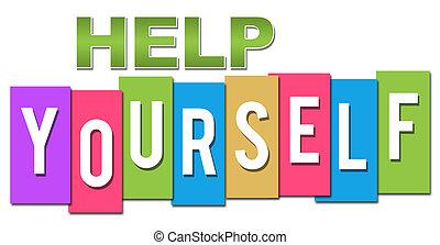 profesional, ayuda, colorido, usted mismo