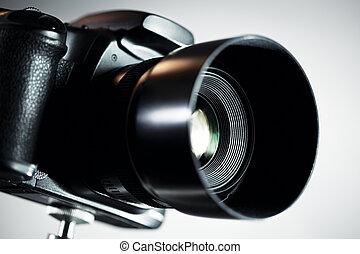 profesional, cámara, dslr