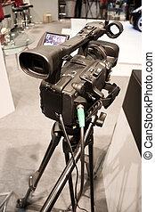 profesional, cámara, vídeo, exhibotion