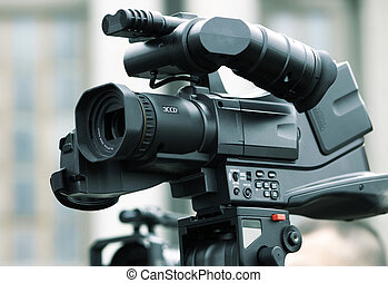 profesional, camcorder