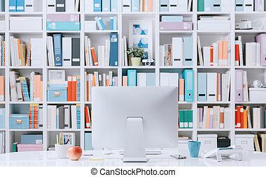 profesional, contemporáneo, espacio de trabajo