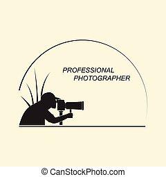 profesional, fotógrafo, viaje