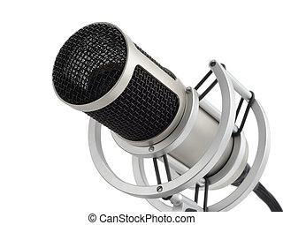 profesional, micrófono, aislado