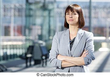 profesional, mujer de negocios