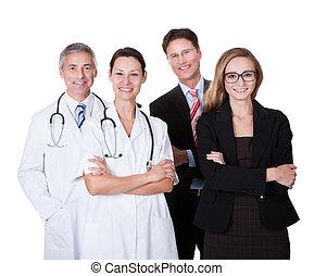 profesional, personal del hospital