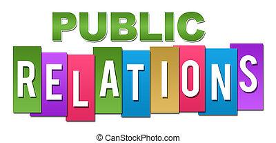 profesional, relaciones, público, colorido