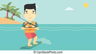 profesional, wakeboard, sportsman.