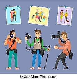 profesionales, fabricante, foto, elegir, equipo, mejor
