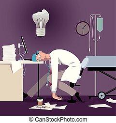 profesionales, fundición, asistencia médica