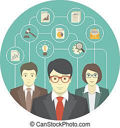profesjonaliści, teamwork