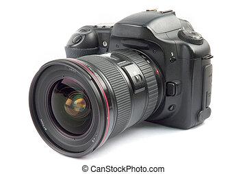 profesjonalny, aparat fotograficzny, cyfrowy