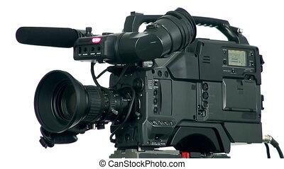 profesjonalny, aparat fotograficzny, video, cyfrowy