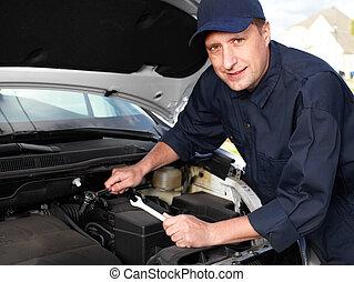 profesjonalny, auto, mechanic.