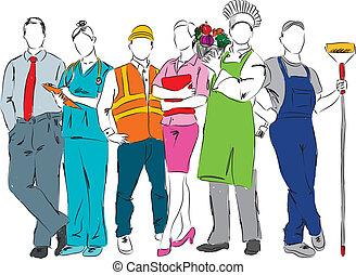 profesjonalny, kariery, ocuppations, il