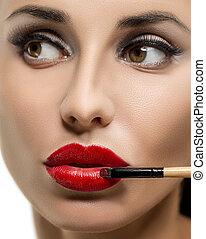 profesjonalny, make-up.