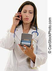 profesjonalny, medyczny, opowiadając, informacja