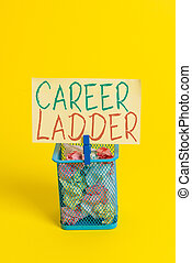 profesjonalny, opróżniać, zwyżkowy, pismo, papier, yellow., ...