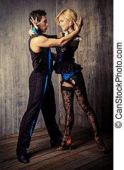 profesjonalny, tancerze