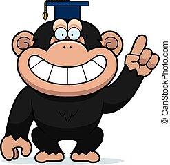 profesor, caricatura, chimpancé