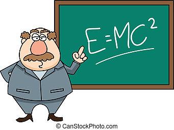 profesor, delante de, clase