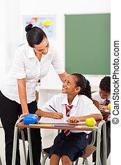 profesor, escuela, elemental