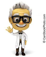 profesor, normal, caricatura, 3d, postura