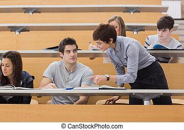 profesor, porción, estudiante