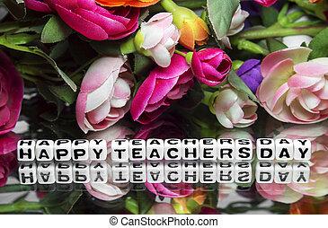 professeur, jour, heureux