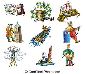 Profession 1 - People various profession (wine maker, ...