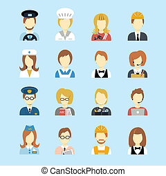 Profession avatar - Set of occupations profession peoples ...