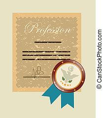 profession design over beige background. vector illustration