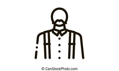 profession Icon Animation. black profession animated icon on white background