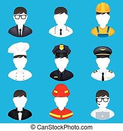 Profession icons set