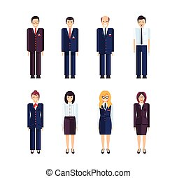 profession MANAGER 1 - Stock set of isolated characters, ...