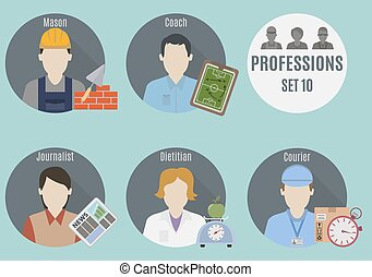 Profession people. Set 10