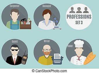 Profession people. Set 3
