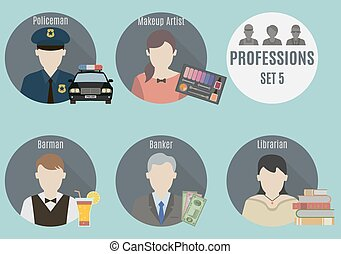 Profession people. Set 5