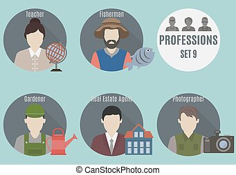 Profession people. Set 9