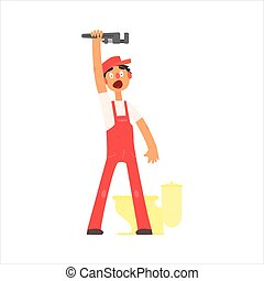 Profession Plumber Vector Illustration